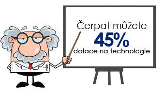 Čerpat můžete 45% dotace na technologie